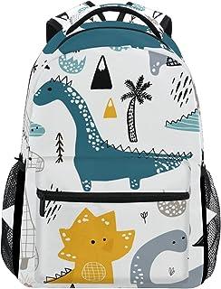 OREZI Dinosaur Scandinavian Style Backpack Bookbag for Boys Girls,Elementary School Backpack,14 inch Computer Laptop Backpack,Durable and Water Resistant Casual Rucksack School Backpack