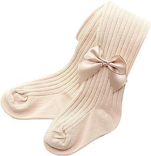 Pantalones para niñas, Medias con Lazo para bebés y niños pequeños Lazo sólido Pantimedias Calientes Pantalones Pantalones...
