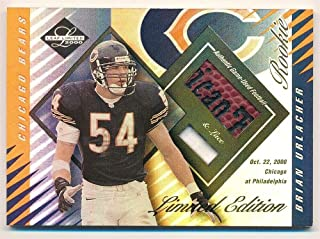BIGBOYD SPORTS CARDS Brian Urlacher 2000 Leaf Limited Rookie Limited Series Dual Ball LACE Patch #/25