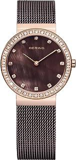 BERING Reloj Analógico Classic Collection para Mujer de Cuarzo con Correa en Acero Inoxidable y Cristal de Zafiro 10729-262