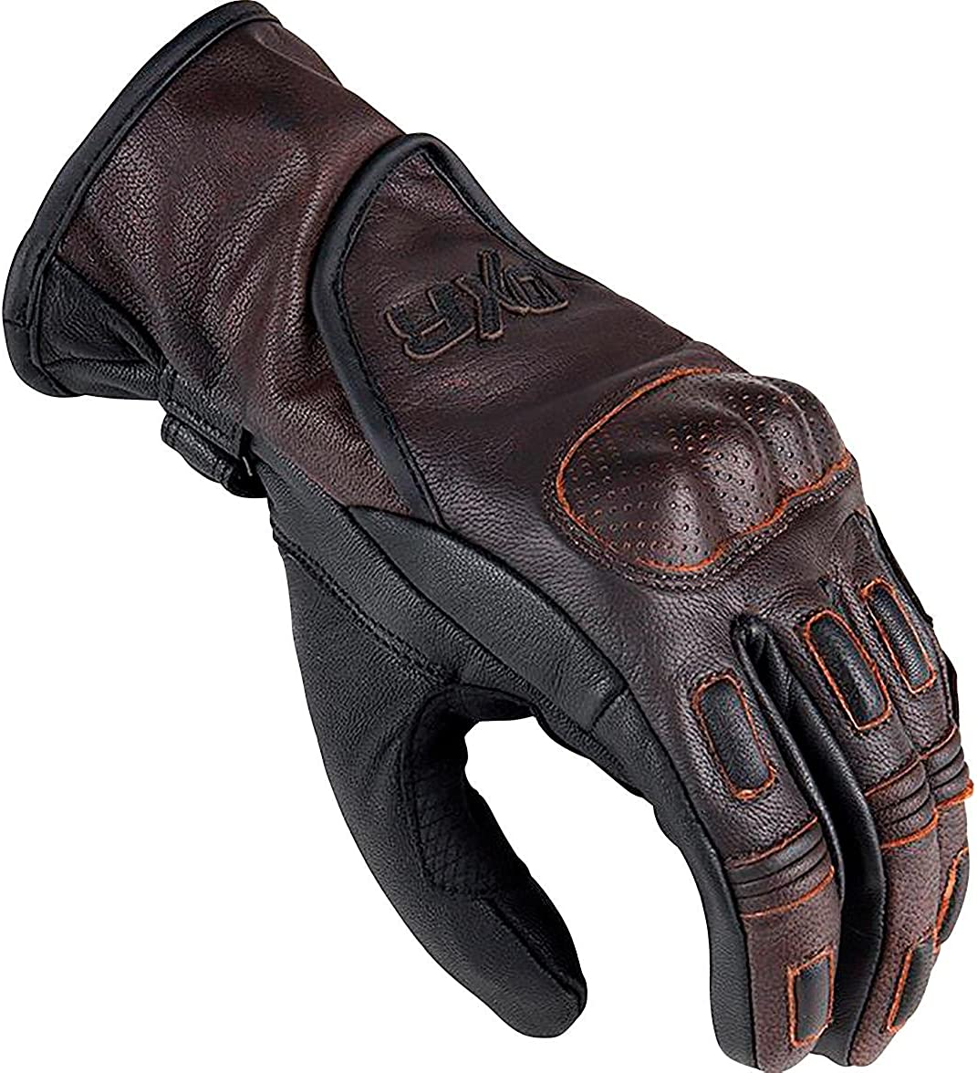 Dxr Motorradhandschuhe Kurz Motorrad Handschuh Ttr Marron Handschuh Motorradhandschuhe Herren Verstärkungen Mittelhand Finger Handfläche Handkante Ziegenleder Braun S Xxxl 3xl Bekleidung