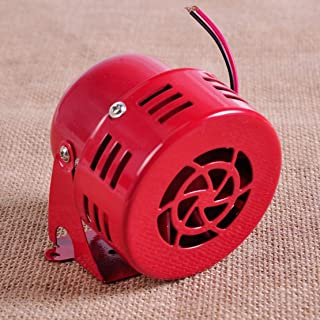 CHUN-Accessory - 12V 3 Driven Air Raid Siren Horn Alarm Red 1950's for Car Truck Motorcycle Yacht Boat Busses off Road Vehicle
