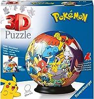 Ravensburger 3D Puzzle 11785 - Puzzle-Ball Pokémon - 72 Teile - Puzzle-Ball für Pokémon Fans ab 6 Jahren: Erlebe Puzzeln...