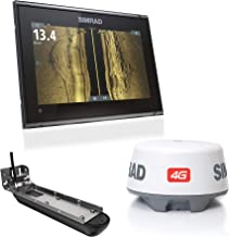 Simrad GO9 XSE: 9-inch Fishfinder Navigation Display Active Imaging 3-in-1 Transducer, 4G Radar Bundle C-MAP Pro Charts Installed.