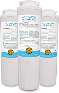 AQUWOW Refrigerator Water Filter Replacements 3-Pack for Maytag UKF8001, Whirlpool 4396395, EveryDrop EDR4RXD1, Pur Filter 4, and Kenmore 46-9005 – NSF Certified Clean, Purified Drinking Water