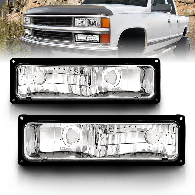 AmeriLite Super intense SALE Pack Signal Lights Black Frame Full For Size mart Chevy P -