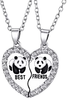 Bestie necklace for 2 Best Friends Forever Necklace BFF Necklace Broken Heart Necklace Couples Jewelry