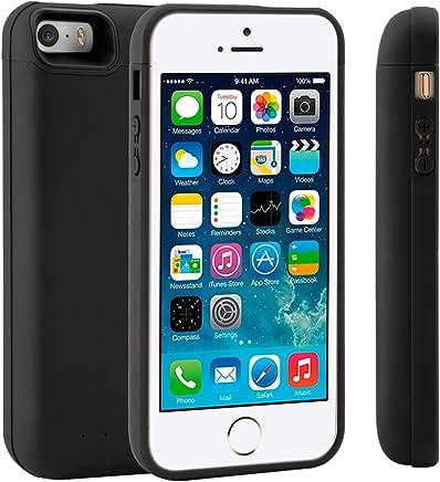 c8c65a82892 Funda Batería iPhone 5 5S 5C SE, LifeePro 4200mAh Batería Recargable  Externa Ultra Delgada Protector