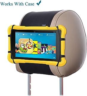 TFY 車用ヘッドレストタブレットホルダー シリカゲルホルダー マウント 7-10インチのFire Tabletに適用