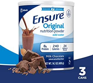 Ensure Original营养代餐粉,8g巧克力味,3罐装,每罐14.1盎司(400g)