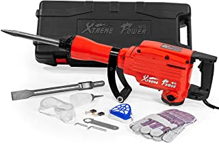 XtremepowerUS 2200Watt Heavy Duty Electric Demolition Jack hammer Concrete Breaker W/Case, Gloves