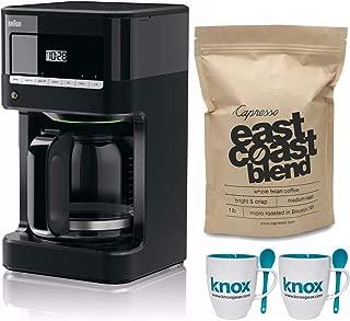 Braun KF7000BK Brew Sense Drip Coffee Maker + Free Coffee Beans and Mug Set