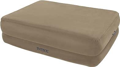 Intex Queen Foam Top Rising Comfort Raised Airbed Set