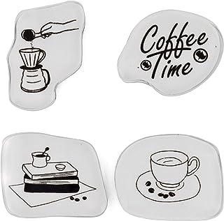 MissOrange『クリアスタンプ セット』コーヒー COFFEE アクリル クリエイティブスタンプセット クラフトカード スクラップブッキング 手帳用 4個セット M-66