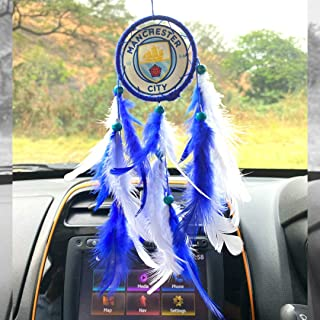 Rooh dream catcher ~ Manchester City Football Club Car Hanging ~ Handmade Hangings for Positivity (Can be used as Home Déc...