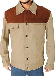 Men Denim Cotton Jacket Pure Color Long Sleeve Slim Button Coat