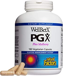 PGX by Natural Factors, WellBetX Plus Mulberry, 180 Count (Pack of 1)