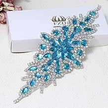Rhinestone Applique for Wedding Dress Belt Embellishment (Light Blue)