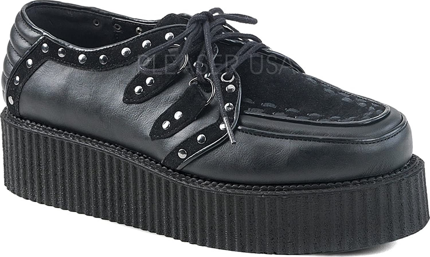 Demonia Mens V-CREEPER-535 BVL-VS Oxfords-shoes Black
