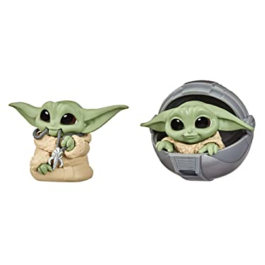 STAR WARS The Bounty Collection Series 2 The Child Collectible Toys 2.2-Inch Child Pram, Mandalorian Necklace Figure 2-Pack