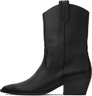 Uterque Women Leather Gaucho Ankle Boots 5070/051