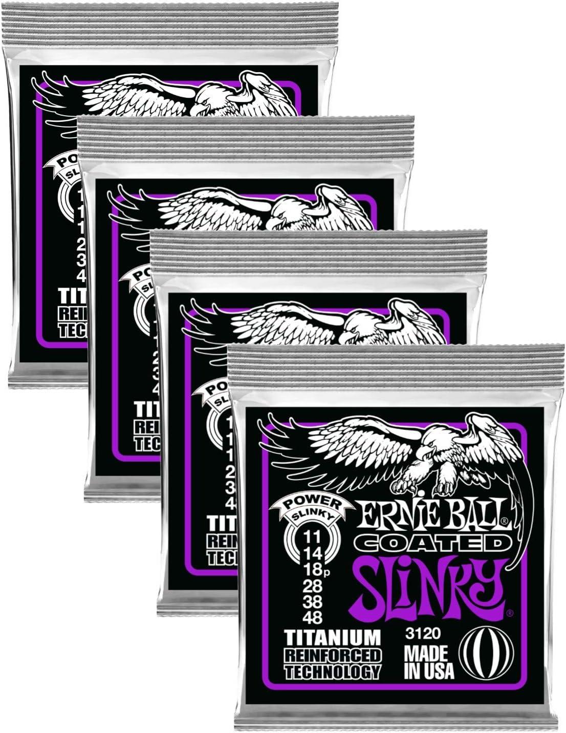Ernie Ball Trust 3120 Coated Titanium Slinky Electric Str Guitar In a popularity Power