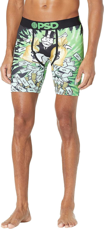 PSD Underwear Men's Stretch Elastic Boxer Brief Underwear Bottom - Monopoly & Hasbro