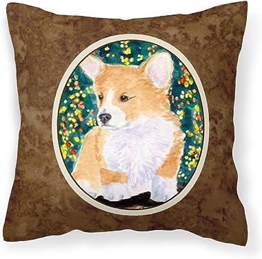 Caroline's Treasures SS8967PW1414 Corgi Decorative Canvas Fabric Pillow, 14Hx14W, Multicolor