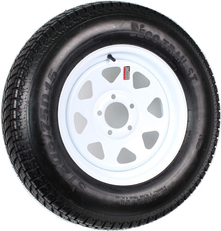 Heavy Duty 2021 model Trailer Tire On unisex Rim ST205 205 75-15 5 Lug 75D15 LRD W
