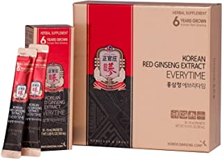 KGC Cheong Kwan Jang [Korean Red Ginseng EveryTime 3000mg] 100% Korean Panax Red Ginseng Extract, Portable Sticks, Healthy...
