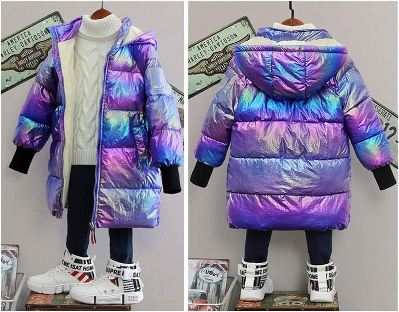 XUEMEI Kids Outwear Winter Jacket for Girls Hooded Warm Girls Jacket New Girls Duck Down Jacket Cotton Children Outerwear Fashion Girl Jacket for Winter (Color : Gold, Kid Size : 13T)