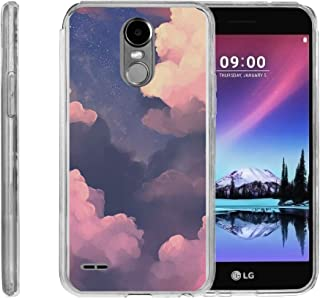 TurtleArmor | Compatible with LG Stylo 3 Case | LG Stylus 3 Case | Stylo 3 Plus [Flexible Armor] Flexible Slim Fitted TPU Bumper Case Cover - Clouds