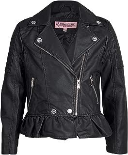 Girl's Faux Leather Motorcycle Moto Biker Jacket (Toddler/Little Girls/Big Girls)