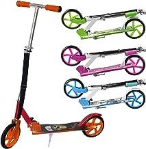 Scooter Kickroller mit Reibungsbremse zusammenklappbar Clamaro Sidekick 205mm Cityroller Tretroller gefedert f/ür Kinder und Erwachsene h/öhenverstellbar bis 100 kg belastbar Schwarz//Gr/ün