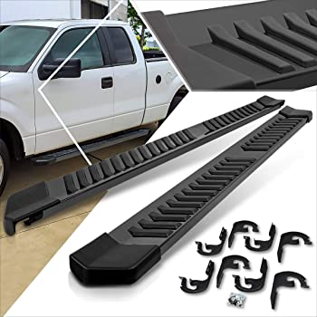 """FOR 04-14 FORD F150 SUPER EXTENDED CAB 5/"""" BLACK SS SIDE STEP BAR RUNNING BOARD"""