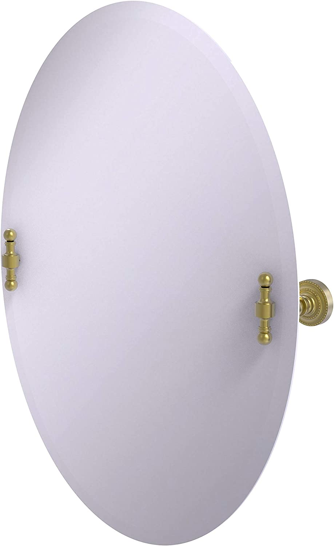 Allied Brass RD-91 Free shipping Frameless Oval Beveled Tilt Mirror Edge Wall Financial sales sale