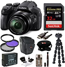 Panasonic DMC-FZ300K Digital Camera with 32GB SD Card and Accessory Bundle