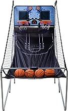 ZENY Foldable Basketball Arcade Game Sport 2-Player LED Scoreboard Electric Basketball Hoop Games Dual Shot,4 Basketballs