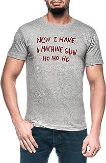 Morir Difícil Navidad Saltador Hombre Gris Camiseta Manga Corta Men's Grey T-Shirt