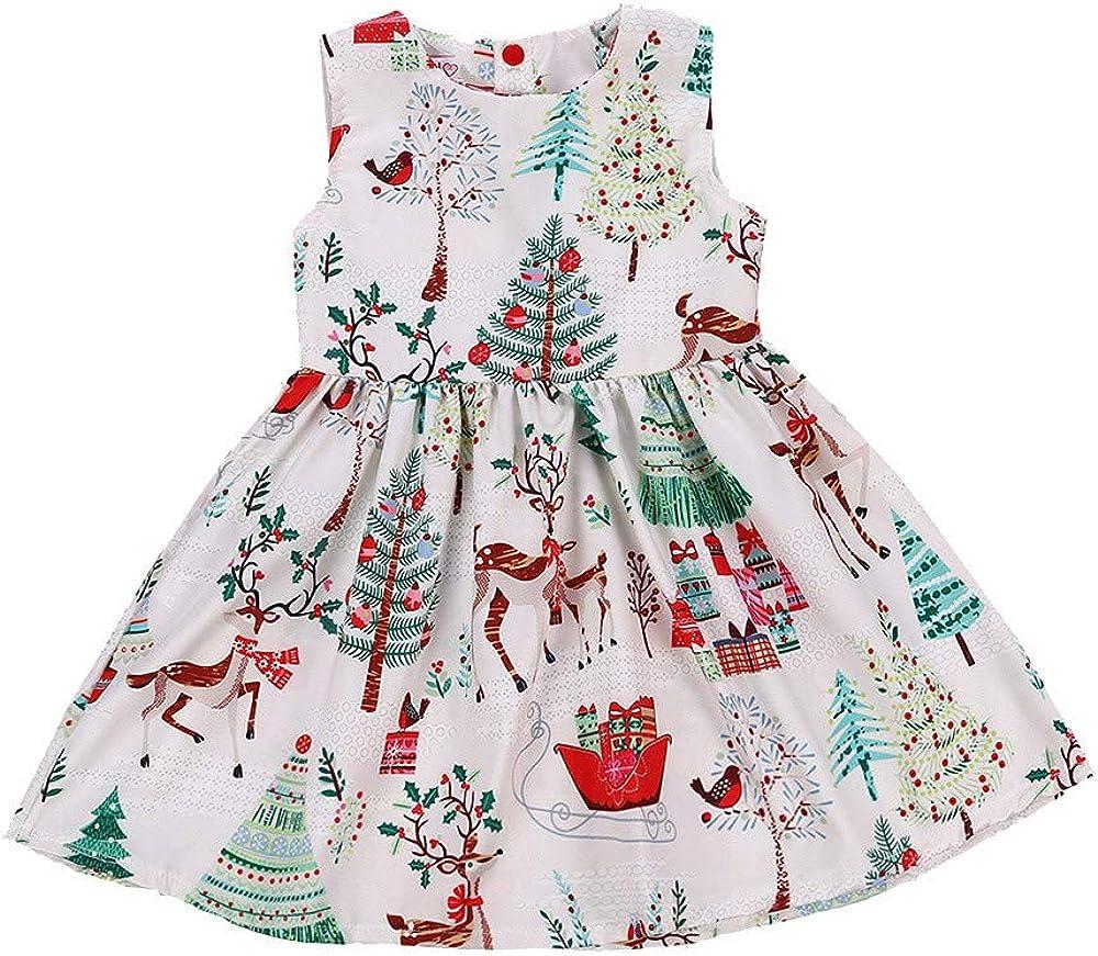 Baby Girls Dresses, Cute Infant Newborn Fancy Christmas Tress