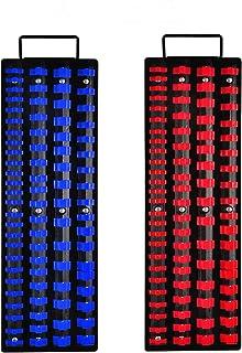 Auwey Socket Organizer Tray 160-Piece Socket Holders Heavy Duty Socket Rail Drive Socket Clip Rail Holder 1/4-Inch, 3/8-In...