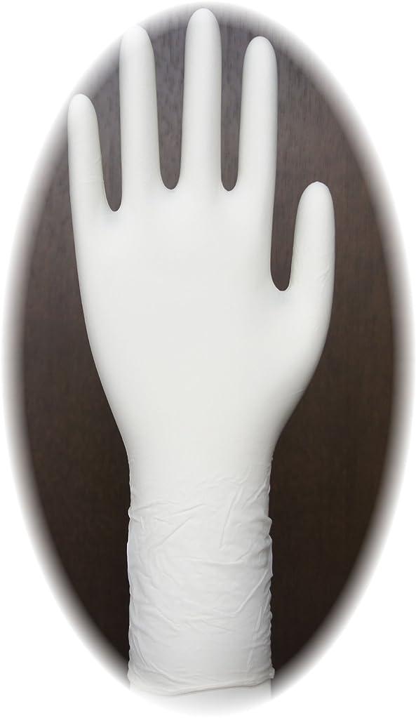 粘液荒廃するオーバーフロー三高サプライ ニトリル手袋 クラス100 クリアグリップ ロング(半透明) GN09 100枚入り M