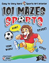Sports Maze Book for Kids Ages 4-8: 101 Puzzle Pages. Easy to Ultimate Level. Custom Sports Art Interior. SUPER KIDZ. Socc...