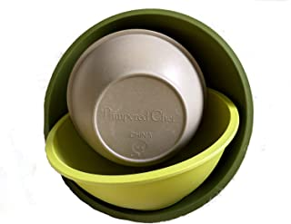 Pampered Chef Bamboo Fiber Mixing Bowls - Multi-Color