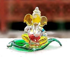 "StonKraft Esplanade Ganesha Ganesh Murti Idol Statue Sculpture (2.5"") - Car Dashboard Idols | Crystal Glass"