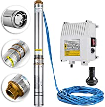 LOVSHARE Deep Well Submersible Pump 1.5 Hp 110v Water Well Pumps 40 Gpm Water Pressure Tanks for Wells 4inch Stainless Steel