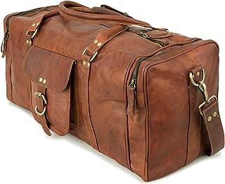 Berliner Bags Weekender New York L Reisetasche Sporttasche aus Leder Vintage Damen Herren Braun Klein 30l