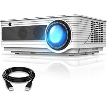 "VIVIMAGE Cinemoon 580 Projector1080P Supported, 4000 Lux High Brightness Video Projector with 200"" Projection Size Includes HDMI Cable"