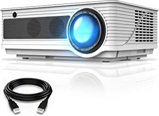 VIVIMAGE C580 Movie Projector, Full HD 1080P Supported, Home Theater Projector with HDMI Cable Compatible iPhone, PC, DVD,...