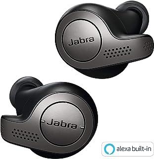 Jabra Elite 65t True Wireless Earbuds Bluetooth in-Ear Headphones with Earphones Charging Case & One-Touch Amazon Alexa & 15 Hours Battery, Titanium Black